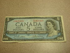 1954 - Canada five dollar bill - $5 Canadian note - IS1421419