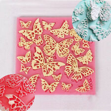 Butterfly Lace Fondant Mould Silicone Cake Decorating Mold Baking Sugarcraft Mat