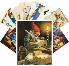 24 Postkarten Set * Retro Illustration Christmas Dwarves by Jenny Nystrom CC1117
