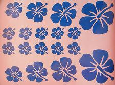 Hibiscus fleurs autocollants / transferts x 18, voiture, pépinière, murs, VW