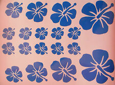 Hibiscus Flower Stickers / Transfers  x 18, Car, Nursery, Walls, VW