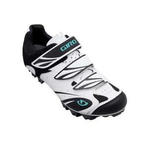 New Without Box GIRO Espada E70 MTB Cycling Shoe White and Black Women's Size 10