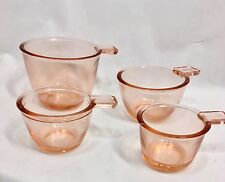 Measuring Cup Set 4 Pink Cups Reproduction Depression Glass Vintage Style #527P
