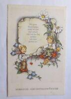 Geburtstag, Kinder, Blumen, Brief, Herz, 1930 ♥  (52507)
