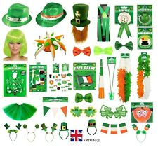 ST. PATRICK`S DAY FANCY DRESS COSTUME ACCESSORY Party Irish Clover Gold Lot UK