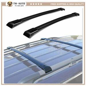 2Pcs Fits for Acura MDX 2007-2014 Aluminum Roof Rail Racks Cross Bars Crossbar