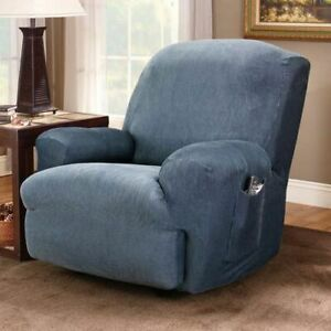 Sure Fit Stretch Stripe Recliner Slipcover NAVY new