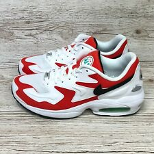 NIKE AIR MAX 2 LIGHT HABANERO RED SIZE UK 8.5 US 9.5 EUR 43 AO1741 101 720 270