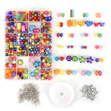 Plastic Jewelry Beads Shining Bling Crystal Set For Kids Crafts DIY Kit HU