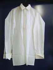"""Chemise vintage habillée """"Terlosan"""" blanche tissée taille 37 neuve"""