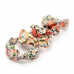 Pack of 4 Floral Headbands Knot Hair Bands Womens Aliceband Hair Accessories
