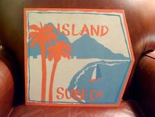 Pottery Barn Kids Island Surf Large Sign Wood Plaque Ocean Beach Girl Wall Decor