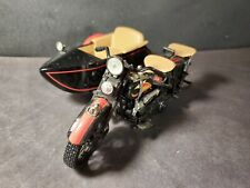 Genuine 1933 Harley Davidson Motorcycle w/ Sidecar 1:12 Scale Diecast Coin Bank