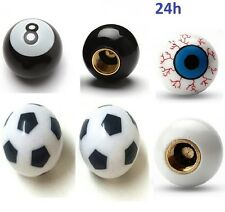 lot 2 Bouchons 8 Ball Billard Ballon Foot Oeil Valve Voiture Auto Moto Velo BMX