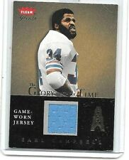 EARL CAMPBELL 2004 FLEER GREATS GLORY OF THEIR TIME GAME USED JERSEY
