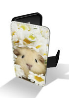 Cute Guinea Pig Floral Daisy's Wallet Leather Phone Case Cover