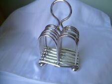 ANTIQUE UNUSUAL  SILVER  PLATED  EXTENDING  TOAST  RACK