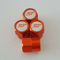 ST metal Orange Valve Dust caps all models Lot Colours FIESTA KUGA FOCUS ST3 ST2