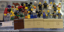 LEGO City/Random Minifig Lot + Bases & Extras! See Pics! Great For Customs!
