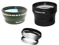 Wide +Tele Lens +Hood + Adapter Tube bundle for Fuji FujiFilm X100 X100s X100F
