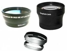 Wide +Tele Lens +Hood with Adapter Ring Tube bundle for Fuji FujiFilm X100 X100s
