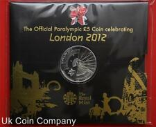 2012 Paralympic Royal Mint Brilliant Uncirculated £5 Coin Sealed In Pack