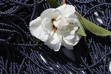 11/0 Czech Glass Seed Beads Terra Pearl Dark Plum on Jet