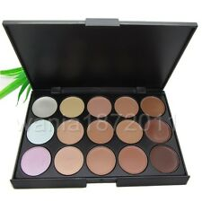 New 15 Color Beauty Pro Face Cream Makeup Concealer Contour Palette foundation