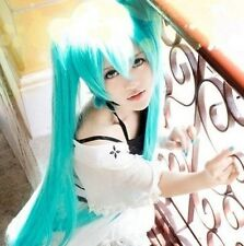 New Vocaloid Hatsune Miku Cosplay WIG + 2 Ponytails Light Blue