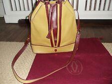Authenic CARTIER Bordeaux & Mustard Shoulder Bag