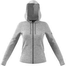 Adidas Solid FZ Felpa Donna Zip grigia L Grigio