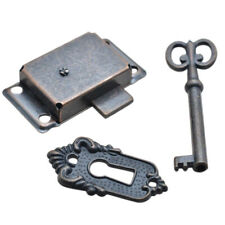 2 Sets Antique Cabinet Door Key Lock Set China Jewlery Replacement Home Craft