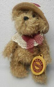 Vintage 1997 Plush Pickford Rosie Brass Button Bear of Joy