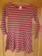 EUC GYMBOREE Tyrolean Lure Fringe Dress SZ 6 T $32 Pink & Brown Stripes
