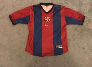 FC Barcelona Original Nike Home football Shirt 1998/2000 Small Jersey Camiseta