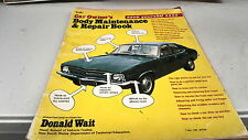 Car Owners BODY MAINTENANCE & Repair Book  TORANA COVER
