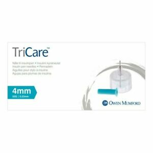 TriCare Pen Needles (pentips) - 4mm, 5mm, 6mm or 8mm, Pack of 100 - NEW STOCK