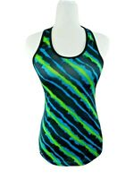 Women's Champion Fitted Racerback Tank Workout Activewear Black, Blue, Green