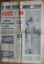 C 160 : OUEST FRANCE : 1 JOURNAL : SPECIALE 24 HEURES DU MANS : 1971 : 8 PAGES