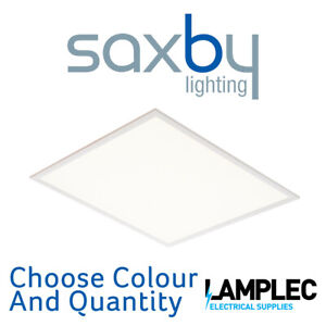 Saxby LED Panel 600x600 Stratus Cool White 4000K or Daylight 6000K Light Output