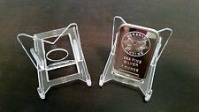 """1 Adjustable 2"""" Display Stand Easel Coins Strikes Rounds Bars Ingots"""