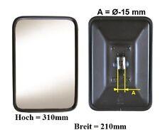 Außenspiegel Bügelspiegel L.LKW VW LT VW Pritsche 310x210mm ø15mm Metall Rahmen