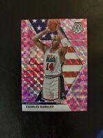 2019-20 Panini Mosaic Charles Barkley Pink Prizm USA Basketball - Philadelphia