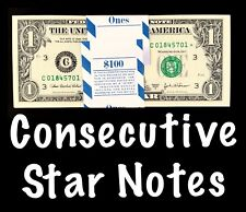 2003 Philadelphia 1$ Consecutive Star Notes BEP Strap Replacement Notes UNC C2