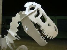 Aluminum Dinosaur sculpture. 37 inches long. Allosaurus (raptor, t-rex family)