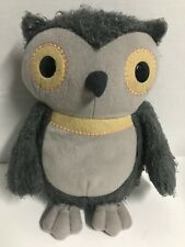 "KOHLS CARES FOR KIDS GRAY OWL 10"" FUZZY SOFT PLUSH-AESOP'S FABLES HOOTY OWL"