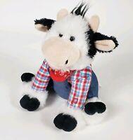 "CUDDLE BARN COW FARMER MAC Musical Sings Old MacDonald 11"" Plush Stuffed Animal"