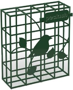 Hanging Suet Block Bird Feeder Peckish Wild Bird Food Fat Cake Holder Feeders