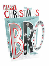 Happy Christmas Bro Brother Christmas Card 3D Cutting Edge Greeting Cards
