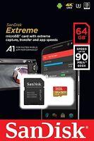 SANDISK Extreme Micro SDXC UHS-1 Memory Card, 64GB